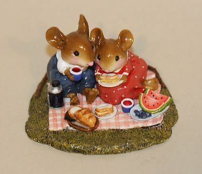 Wee Forest Folk Just the Two of Us M-370a Boy & Girl Mouse Picnic Watermelon