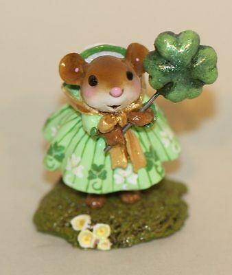 Wee Forest Folk Kelly Green M-388b Girl Shamrock Dress Balloon St. Patrick's Day