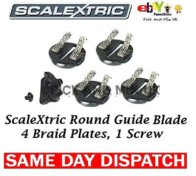 SCALEXTRIC Replacement Braids  Pack Of 4 & 1 Screw. Easy Fit (C8329)