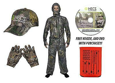 HECS Human Energy Conceal 3 piece Suit WITH DVD KOOZIE Mossy Oak Large