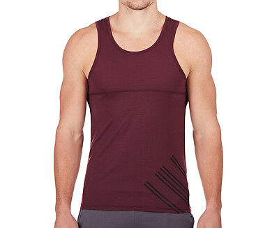 JAGGAD Men's Vineyard Singlet - Burgundy