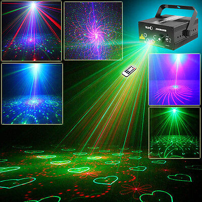 SUNY RG 5 Lens 80 Gobos Laser Projector Stage Light BLUE LED DJ Xmas Lighting+RC