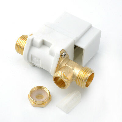 """DC 12V Electric Solenoid Valve 1/2"""" Plastic For Water Air N/C Normally Closed US"""