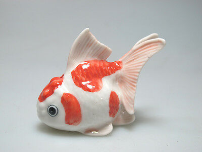 Hand Painted Miniature Collectible Ceramic FISH Figurine Incense Holder