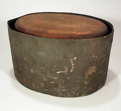 Wood Metal Hat Primitive Store Display Antique Vtg Old Block Mold Millinery Form