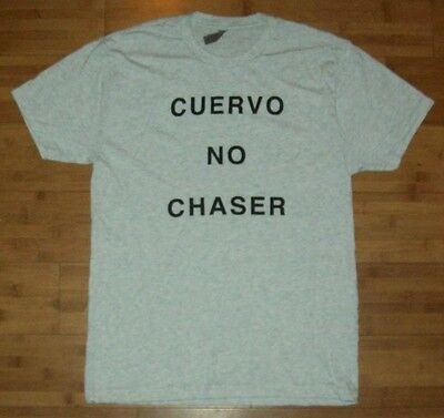 "JOSE CUERVO Tequila ""Cuervo No Chaser"" Men's Gray T-Shirt L/LARGE NEW"