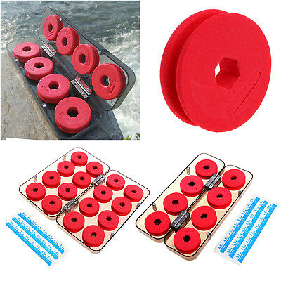 8/16Pcs Foam Winding Board Fishing Spools Line Bobbin Tackle Tool Box Durable