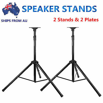 2PCS Heavy Duty PA Speaker Stands Tripod Mounting Height Ajustable DJ Stage Home
