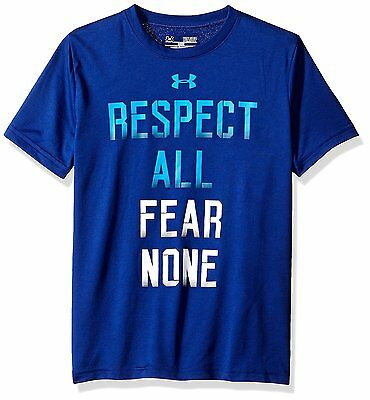 Under Armour Boys Respected By All Short-Sleeve T-Shirt - Caspian, Large/Youth