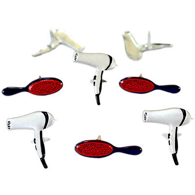 NEW Eyelet Outlet Shape Brads 12 pack Hair Styling