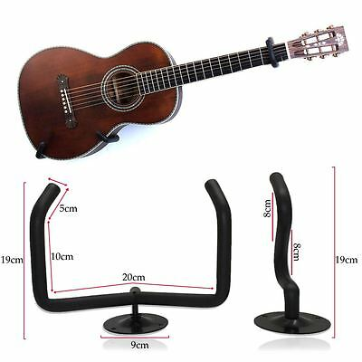 """Universal Guitar Bracket 3"""" to 6"""" Acoustic Electric Bass Wall Mount Display NEW"""