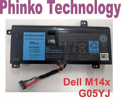 NEW Original Genuine Battery Dell Alienware 14 A14 M14X R3 R4 G05YJ 0G05YJ Y3PN0