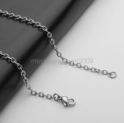 Fashion 3MM Silver Plated Long Chain Men Necklace 19-31 Inch Round Circle Hot