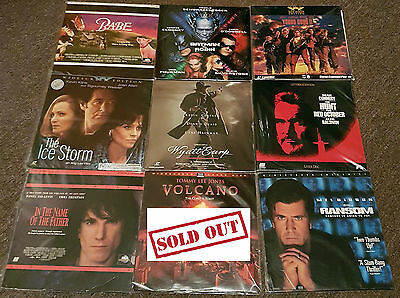 27 Movie Laserdiscs Laser Discs Will Smith Bruce Willis Mel Gibson Tom Cruise