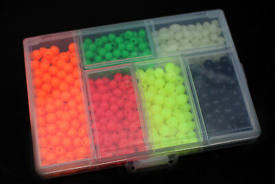 850pcs/box Plastic Fishing Beads Round&Oval Sea Floating Rigs Fly Tying Tackle