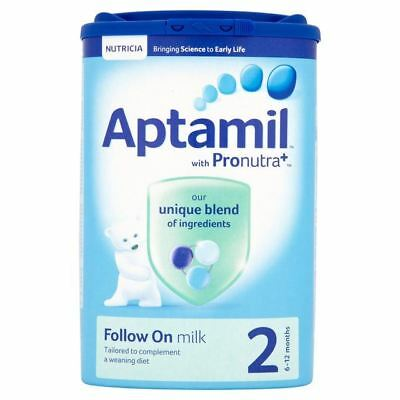 Aptamil With Pronutra+ 2 Follow On Milk 6-12 Months 900g 1 2 3 6 Packs