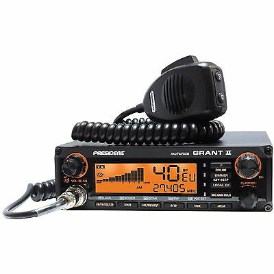 PRESIDENT GRANT II PREMIUM ASC CB MOBILE RADIO AM/FM/SSB (Low Noise Version)