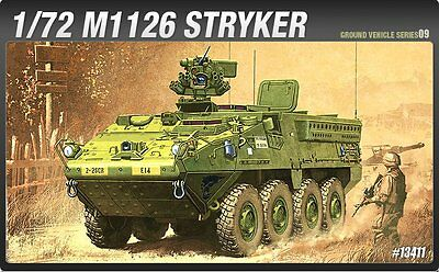Academy 1/72 Plastic Model Kit M1126 STRYKER Vehicle #13411