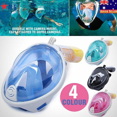 Full Face Snorkeling Mask Diving Swimming Scuba Snorkel Underwater Breath Tools