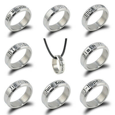 New Stainless Steel Bangtan Boys Bts Ring Kpop Jungkook Jimin Jin V Suga J-Hope
