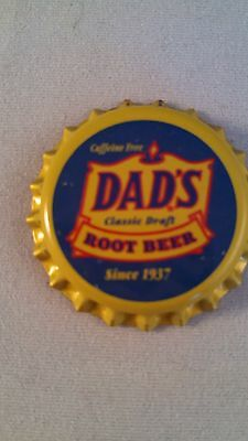 Dad's Caffeine Free Classic Draft Root Beer Plastic Lined Soda Bottle Cap