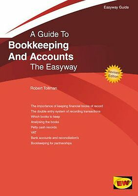 Bookkeeping and Accounts by Robert Tollman Paperback Book New