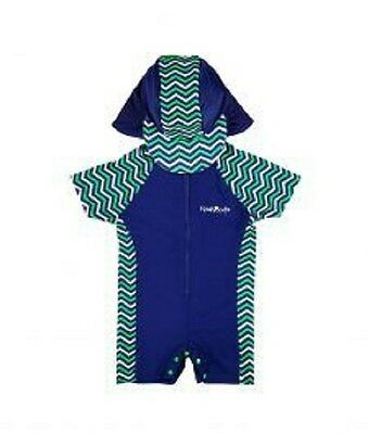 Long Sleeve Swimsuit With Hat Size 2 | 2-3Yrs | Upf 50+