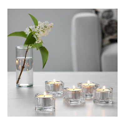 5 Crystal Glass Tealight Votive Candle Holder In/Outdoor Wedding  Decor 5x5cm