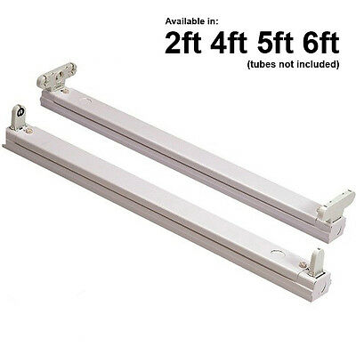 Slim T8 Fluorescent Tube Single & Twin Batten Fitting Fixture 2ft 4ft 5ft 6ft