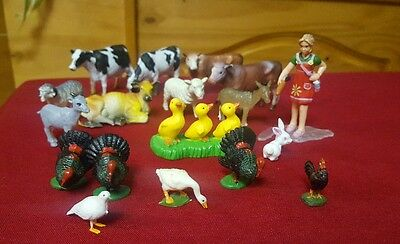 Vintage? Mixed lot  of Plastic Farm Animals