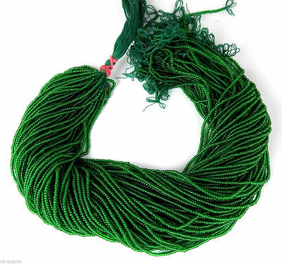 """20 Strand Emerald Hydro Green Spacer Stabilized Beads Rondelle 2-mm 12.5"""" Long"""