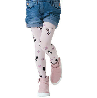 Kids White Tights Pantyhose SISI by Knittex Girls Patterned 40 Denier Hosiery