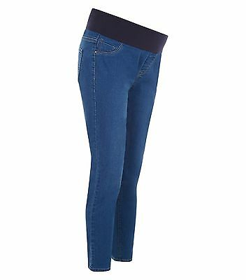 Maternity New Look Jeggings Jeans Under The Bump Blue Sizes 8 - 20 Leg 24 - 31