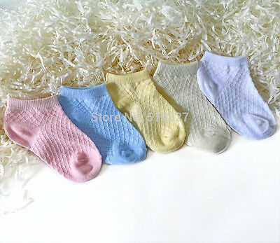 5pairs 4-6years Baby Girl Low Cut Ped Sock  Cotton Socks