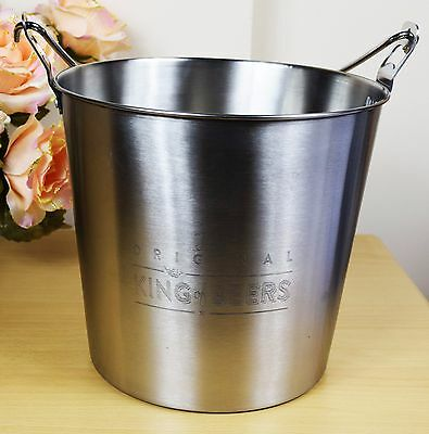 Large Silver Stainless Steel Beer Ice Cooler Bucket With Bottle Opener 2 in 1