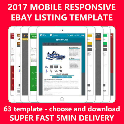Template Ebay auction listing Professional mobile Responsive 2017 design html
