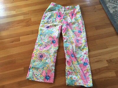 Vintage 60'S Lilly Pulitizer Women's 6-8 Gloral Slacks/ Pants