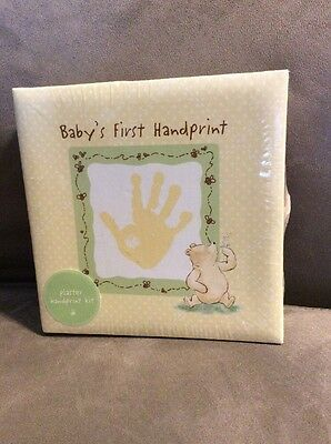 Classic Pooh Disney Keepsake Babys First Handprint Plaster Kit. Plaster with Box