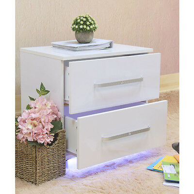 Bedroom Furniture Bedside Table Nightstand Chest of 2 Drawers Cabinet Storage