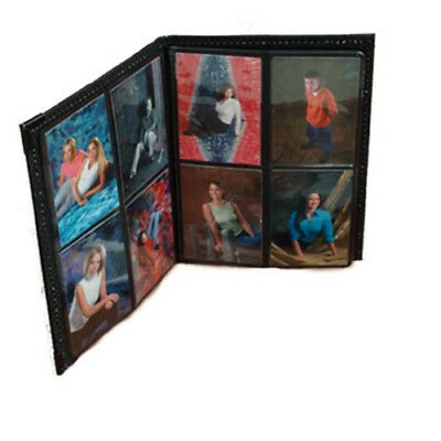 "Photo Album 2.5""x3.5"" holds 80 Elegant Black Leatherette Cover"