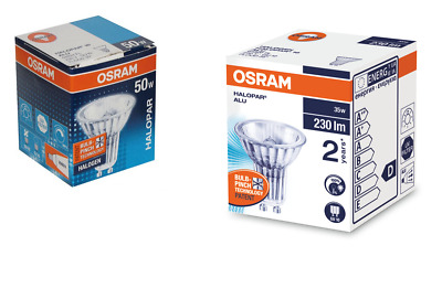 Packs Of Osram 35w / 50w GU10 Halogen Spotlight Reflector Lamps - 36 Deg Flood