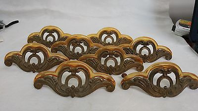 8 Fancy Antique Art Deco Waterfall Hardware Drawer Pulls with Bakelite