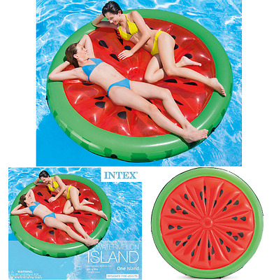 Inflatable Giant Watermelon Floating Island Lake Pool Float Raft Lounge Fun Toy