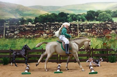 Lot of Breyer model horse and doll: Welsh Pony Set for Play