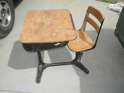 Vintage public grade school childrens child's student desk home school