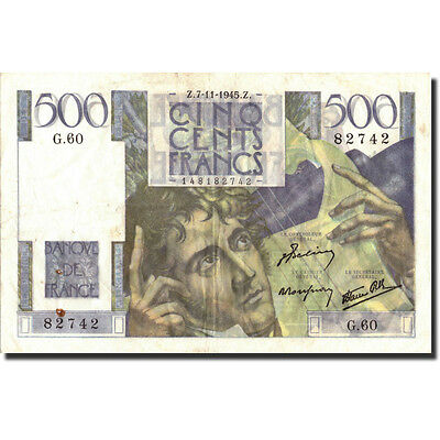[#211196] France, 500 Francs, 500 F 1945-1953 ''Chateaubriand'', 1945