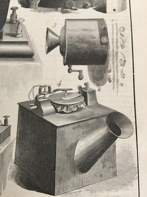 Scientific American Newspaper Early Telephone 1886 Illustrations Excellent