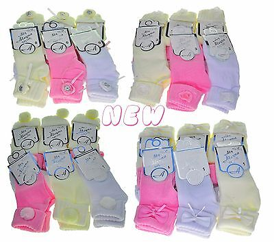 120x Pairs of Mixed Size Wholesale Job Lot Bulk Buy Baby Socks Soft Cotton 0-12M