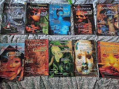 Complete Sandman Trade Paperback Comic Book/Graphic Novel Collection, Books 1-10