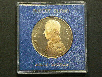 Robert Burns 1759 1796  Bronze Medal, 38mm   #G5490